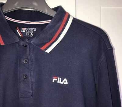 WOMEN'S FILA POLO Shirt Navy White Line Collection ( slightly cropped )