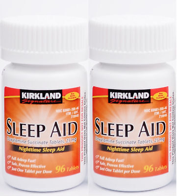 Kirkland Signature Sleep Aid Doxylamine Succinate 25 Mg 192-Tablets -EXPIRE 2020