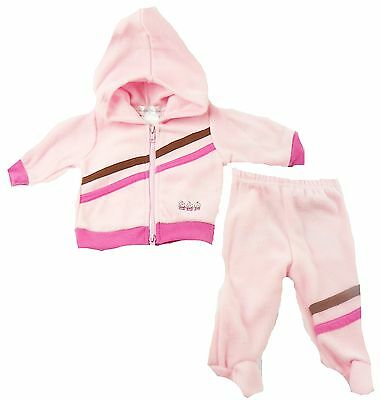 Infant Girl's Rumble Tumble Fleece Set Baby Hoodie Jacket & Pants Safe Deposit