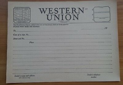 Western Union Telegram Blank Form 1207 Message Vintage Late 40's fms