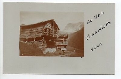 SUISSE SWITZERLAND Canton du VALAIS CARTE PHOTO Chalets VAL D'ANNIVIERS