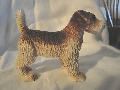 "Vintage Terrier Dog Cast Iron Doorstop 7"" X  5"""