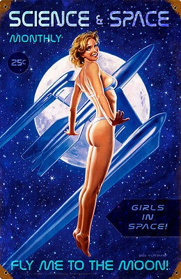 Science & Space Monthly Metal Sign ( Greg Hildebrandt )