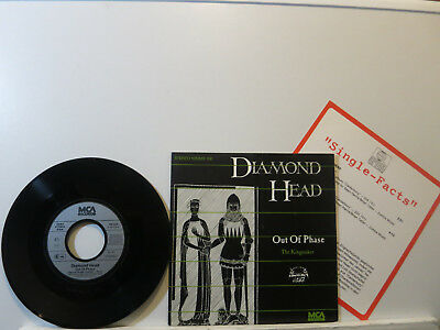 """Diamond Head - Out of Phase / The Kingmaker 7"""" 1983 MCA D PicCover+Demo Sheet NM"""