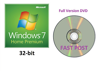 Windows 7 Home Premium 32-Bit Bootable Installation DVD Full Version SP1 Disc CD