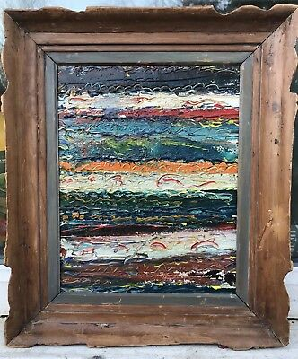 1950/60S ABSTRACT OIL PAINTING ON CANVAS - signed De Stael on reverse