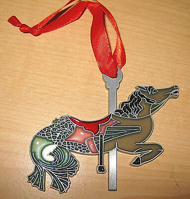 """""""carousel Horse Suncatcher"""" Beautiful Color Stained Glass W/ribbon For Hanging!"""