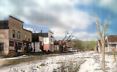 """Signed by Artist  ~  """" AN EARLY WISCONSIN VILLAGE 1901 """"  ~  Glossy Print"""