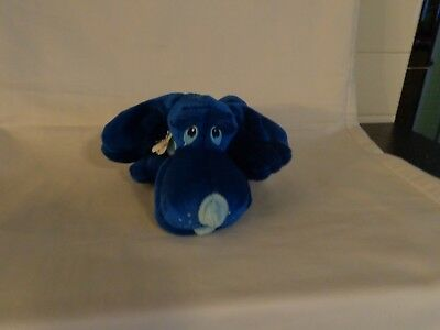 Vintage 1986 Don't Be Blue Stuffed Animal Puppy Dog - Approx. 8 Inches Long