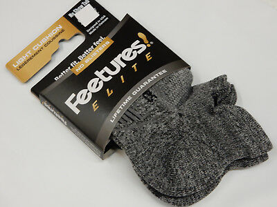 Feetures Socks Elite Light Cushion No Show Tab Grey Size L