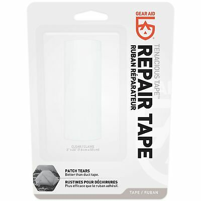 "Gear Aid Tenacious Tape Clear 3""x20"" Ultra Strong Flexible Waterproof Adhesive"