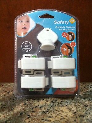 Safety 1st complete MAGNETIC LOCKING SYSTEM 4 Locks And 1 Key-packed brand new
