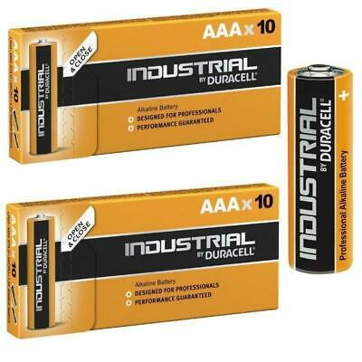20 Duracell Industrial AAA Alkaline Batteries Replaces Procell MN1500