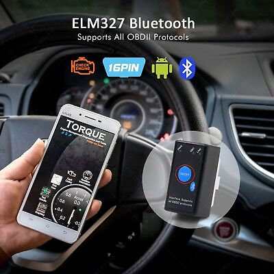 ELM327 V1.5 PIC18F25K80 16Pin 12V OBDII Car Code Chip Bluetooth Power Switch
