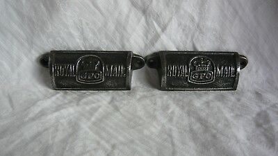 One Pair Vintage Cast Iron Royal Mail GPO Drawer Pull Handles