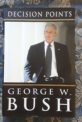 DECISION POINTS first edition George W. Bush SIGNED BOOKPLATE HB dust jacket