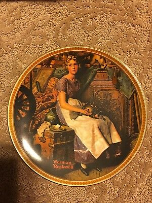 """Dreaming In The Attic """" Norman Rockwell Collectible Plate"""