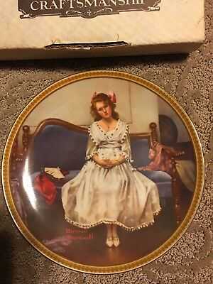 """""""waiting At The Dance """" Norman Rockwell Collectible Plate"""