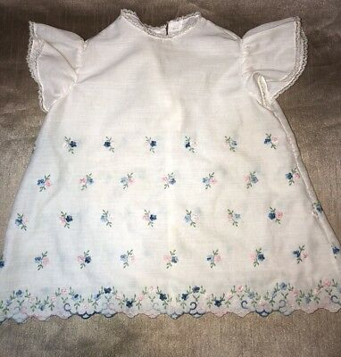 Mid Century White Baby Dress