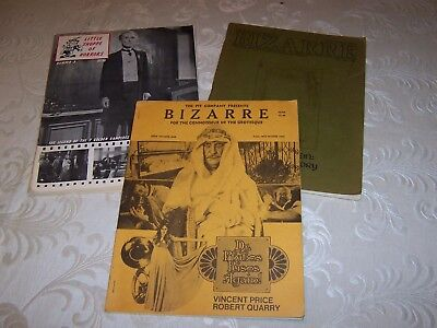 Rare Early Bizarre Horror Magazine Issues 1 & 3 Little Shop of Horrors #3 Pit Co