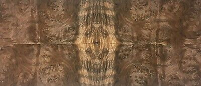 "Exotic Walnut Burl Wood Veneer Raw/Unbacked (4 pc Pack - 16"" x 36"" Total)"