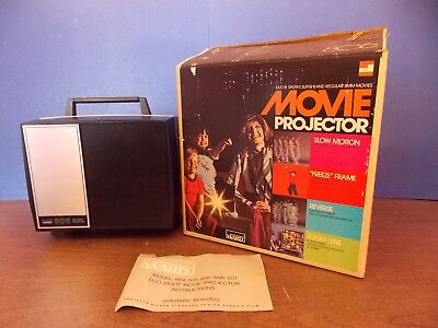 Vintage Montgomery Wards duo 8 Projector model 806 8mm & Super 8 with box Works