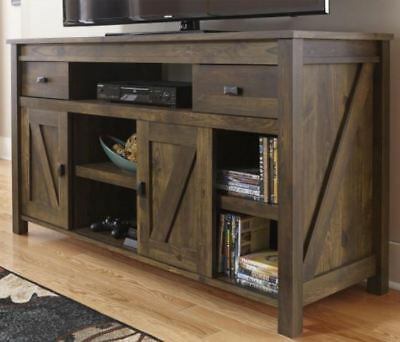 Rustic Tv Stand Smart 4k Entertainment Center Farmhouse 55 60 Inch