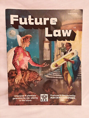 Iron Crown Enterprises FUTURE LAW Role Playing Game book RPG ICE vintage 1985