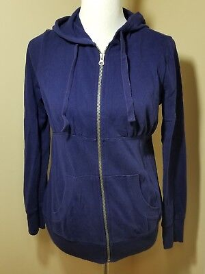 Small Old Navy Maternity Hoodie Zip Sweater Jacket Solid Blue