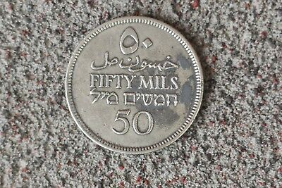 1927 Palestine 50 Mils highly collectible 0.72 silver British mandate coin