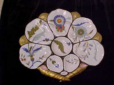 Antique Porcelain Oyster Plate French 19Th Century