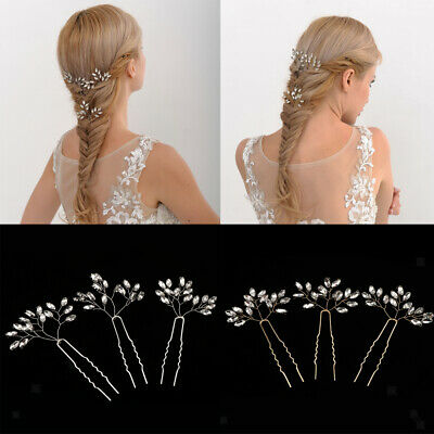 3pcs Rhinestone Woman Bridal Hair Pins Bobby Pins Wedding Party Hair Accessories
