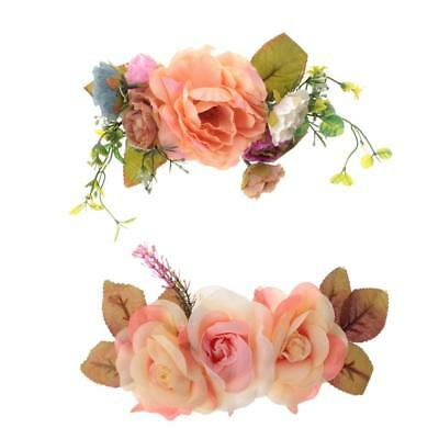 Artificial DIY Fabric Flower Rose Peony Craft for Wedding Headband Straw Hat