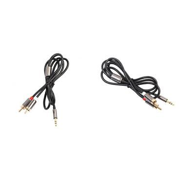 2X 3ft Aux Audio 3.5mm Stereo Male to 2 RCA Cable For Phone iPod MP3 Tablet