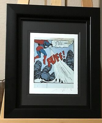 Andy Warhol Hand Signed Superman Print