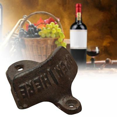 Vintage Rustic Style Cast Iron Wall Mount Beer Soda TOP Cap Bottle Opener Bar TH