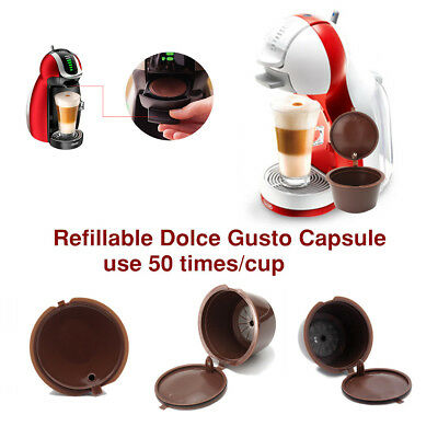 Refillable Reusable Coffee Capsule Filter Filling Cup For Dolce Gusto 6Pcs/Set