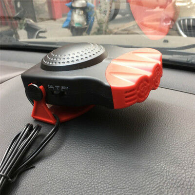 Red 12V 150W New Portable Car Heating Cooling Fan Heater Defroster Demister
