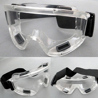 Safety Goggles Anti-Scratch & Anti-Fog Clear Lens Eyewear Protective Glasses