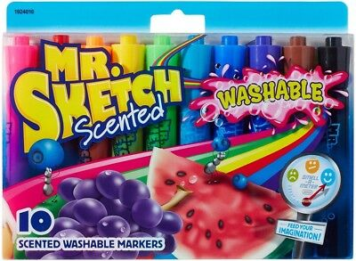 Mr. Sketch 1924010 Scented Washable Markers, Assorted Colors