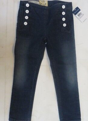 Girls designer jeans trousers skinny cropped age 2 3 4 5 6 7 8 11 12 13 14 15 16