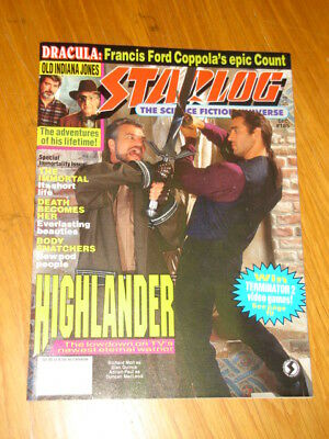 Starlog #185 Sci-Fi Magazine December 1992 Highlander Dracula Immortal