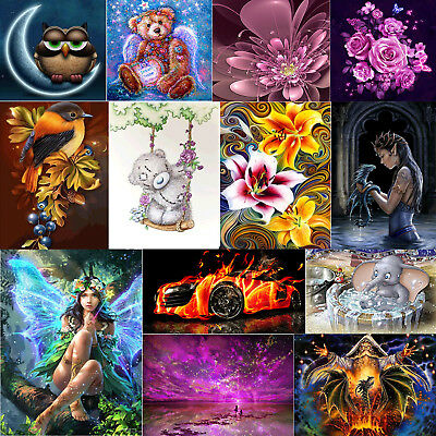 5D DIY Dark Dragon Elf Diamond Painting Embroidery Cross Stitch Kits Decor Craft