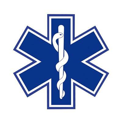 STAR OF LIFE10*10CM Highly REFLECTIVE Decal - EMS EMT PARAMEDIC Star of Life HOT