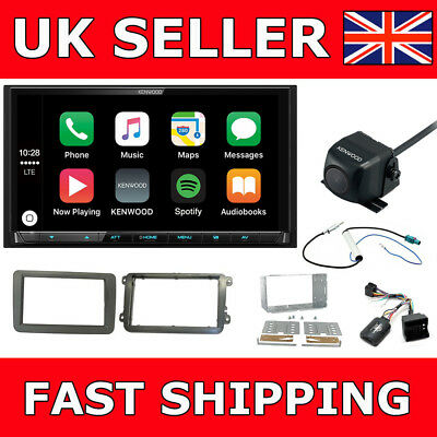 VW Double Din Screen Reverse Cam Kenwood Car Play Android DAB Bluetooth Upgrade