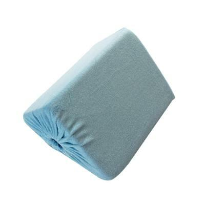 Blue Memory Foam Wedge Pillow Back Support with Cover for Sleep Relaxation