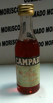 BITTER CAMPARI 4cl 25/% ITALY  cristal miniatura mignonette mini bottle NEW nueva