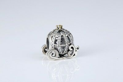 Sterling Silver (925) Disney Pumpkin Carriage Bracelet Charm (Charm Pandora)