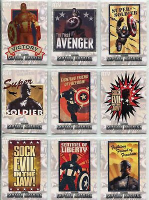 Captain America The Movie Complete Poster Series Chase Card Set P1-12