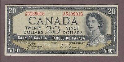 1954 $20 Dollars Devil's Face - Coyne Towers - Prefix A/E - Bank of Canada  E429